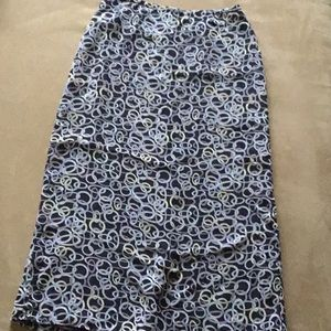 Old Navy Printed Maxi Skirt with Kick Split